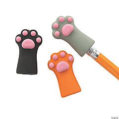 Cat Paw Pencil Top Erasers - 24 Pc.