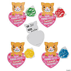 Cat Paw Print Lollipop with Valentine's Day Card
