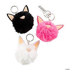 Cat Pom-Pom Keychains