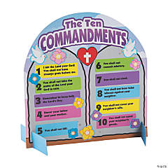 Catholic Ten Commandments Stand-Up Sticker Scenes
