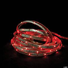 CC Christmas Decor - 18' Red LED Outdoor Christmas Linear Tape Lighting - White Finish