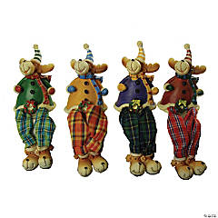 CC Christmas Decor - Club Pack of 144 Plaid Shelf Sitting Reindeer Christmas Figures 5