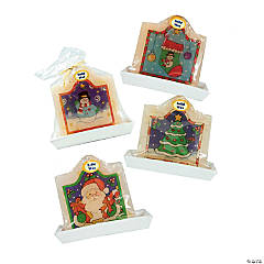 CC Christmas Decor - Club Pack of 72 White and Green Santa Claus Christmas Candles 4.25