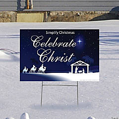 Celebrate Christ This Christmas Yard Sign