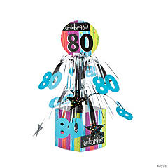Celebrate Milestone 80th Birthday Centerpiece