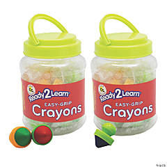Center Enterprises® Ready2Learn™ Easy Grip Crayons, 12 count
