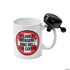Ceramic Emergency Coffee Mug with Bell