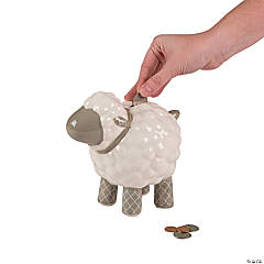 Ceramic Religious Lamb Bank