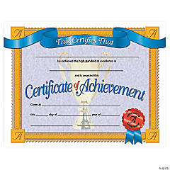 Certificate of Achievement, 30 per Pack, 6 Packs