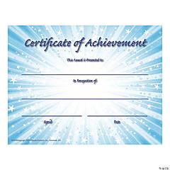 Certificate of Achievement - Qty 180