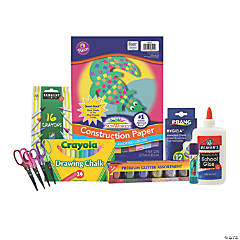 Chalk, Glitter & Glue Arts & Crafts Boredom Buster Kit