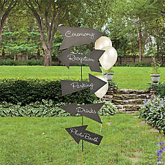 Chalkboard Directional Sign