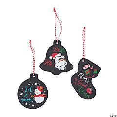 Chalkboard Look Christmas Ornaments