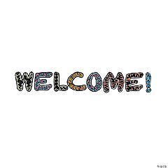 Chalkboard Safari Animal Welcome Letters