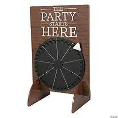 Chalkboard Wedding Spinner Game