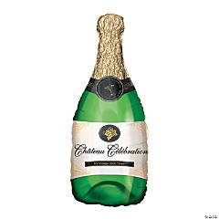 Champagne Bottle Mylar Balloon