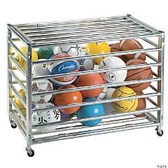 Champion Sports Heavy Duty Locking Ball Storage Locker, Holds 30 Basketballs, Steel
