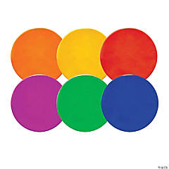 """Champion Sports Round Poly Spot Markers, 10"""", 6 Colors"""