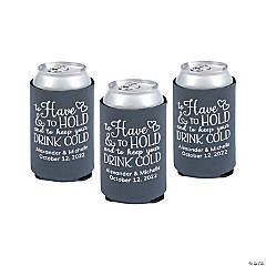 Charcoal Personalized Premium to Have & to Hold Can Coolers
