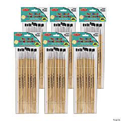 Charles Leonard® Flat Tip Easel Paint Brushes, 1/4
