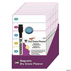 Charles Leonard Mini Magnetic Dry Erase Planning Boards with Marker & Magnet, Set of 12