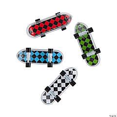 Checkerboard Pattern Mini Skateboards