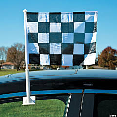Checkered Car Window Flag