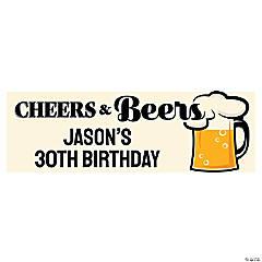 Cheers & Beers Custom Banner - Large