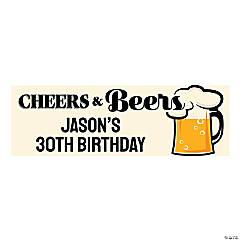 Cheers & Beers Custom Banner - Medium