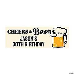 Cheers & Beers Custom Banner - Small