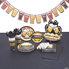 Cheers & Beers Tableware Kit for 16 Guests