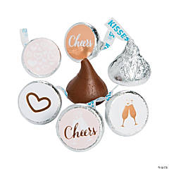 Cheers Gold Foil Hershey's® Kisses® Stickers
