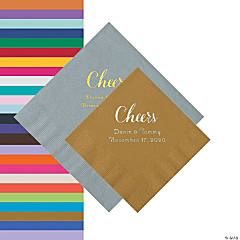 Cheers Personalized Napkins - Beverage or Luncheon