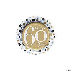 Cheers to 60 Years Paper Dessert Plates
