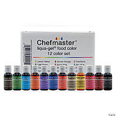 Chefmaster Liqua-Gel Color Kit 12/Pkg .7oz Each