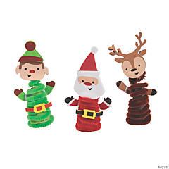 Chenille Christmas Finger Puppet Craft Kit