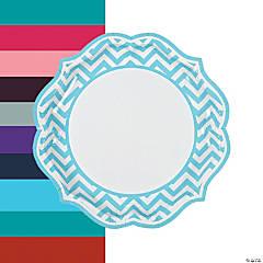 Chevron Scalloped Paper Dinner Plates