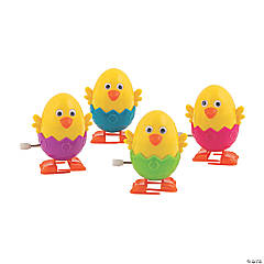 Chick Easter Egg Wind-Up Toys PDQ