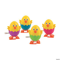 Chick Easter Egg Wind-Up Toys