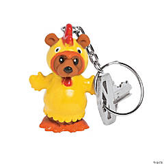 Chicken Bear Keychains