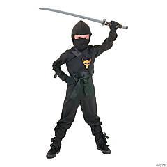 Child's Black Ninja Costume - Medium