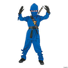 Child's Blue Ninja Halloween Costume - Small