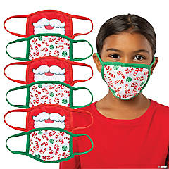 Child's Christmas Washable Face Masks - 6 Pc.
