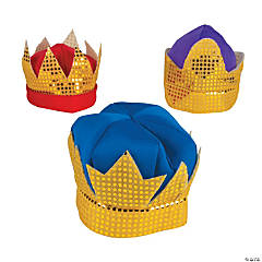 Child's Deluxe Kings' Crowns with Sequins