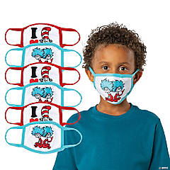 Child's Dr. Seuss™ The Cat in the Hat™ Washable Face Masks - 6 Pc.