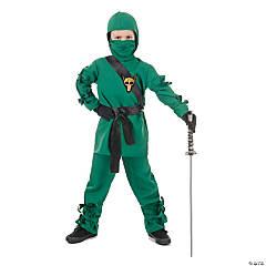 Child's Green Ninja Halloween Costume - Small