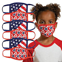 Child's Patriotic Washable Face Masks - 6 Pc.