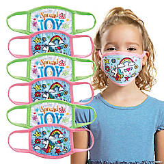 Child's Spread Joy Washable Face Masks - 6 Pc.
