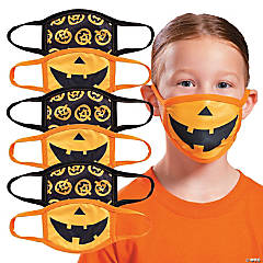 Child's Halloween Washable Face Masks - 6 Pc.