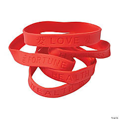 Chinese Character Rubber Bracelets